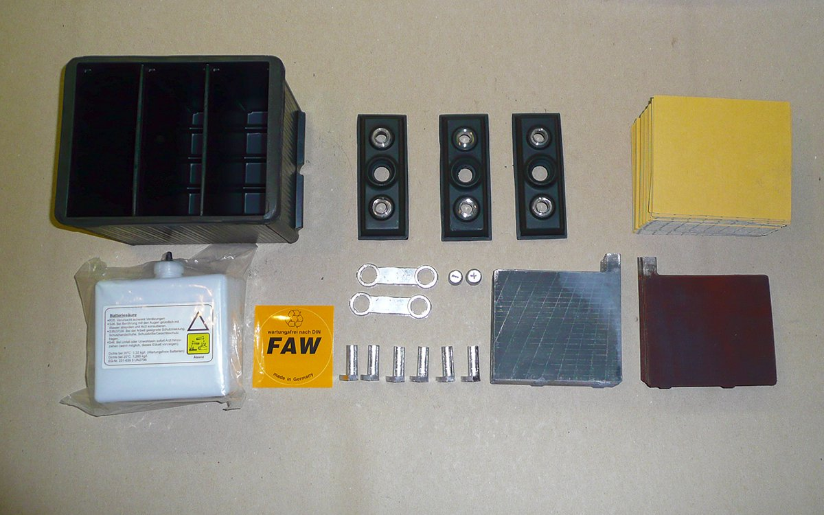 Oldtimer Batterie Bestandteile