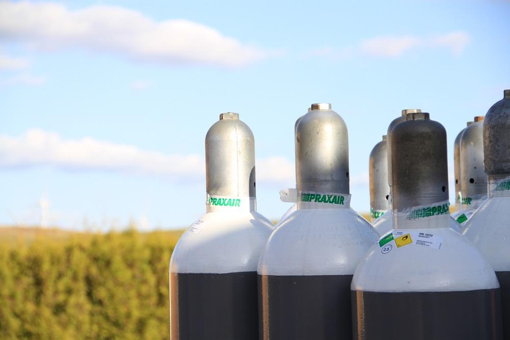 Sauerstoffflaschen in der Uckermark