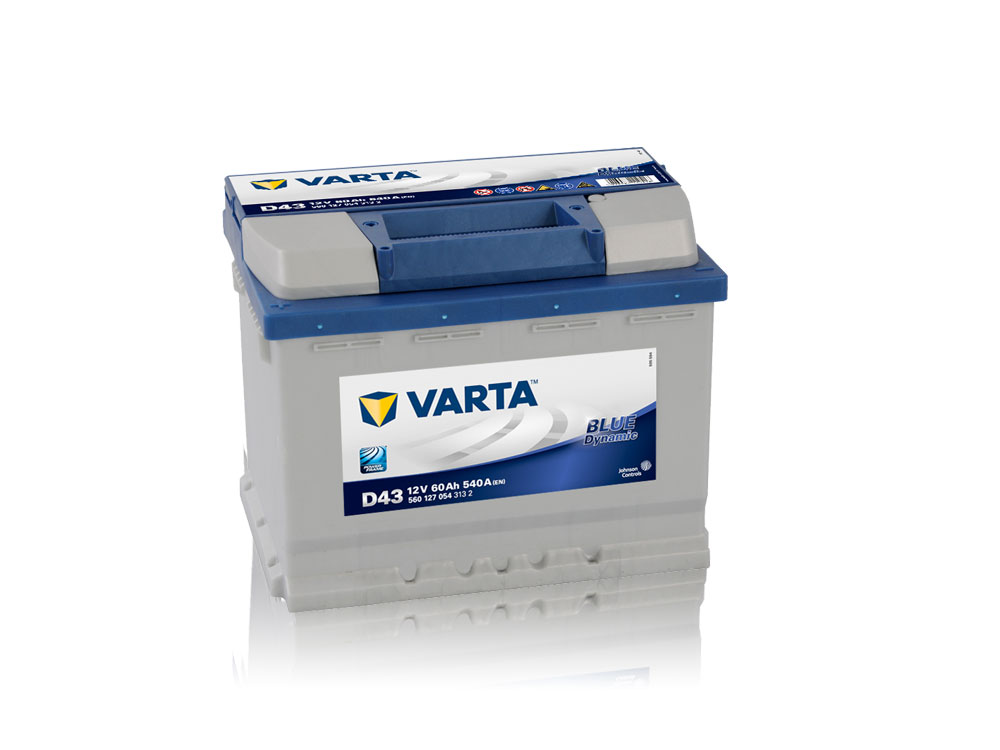 varta blue dynamic 560 127 054 12v 60ah 540a batterie. Black Bedroom Furniture Sets. Home Design Ideas