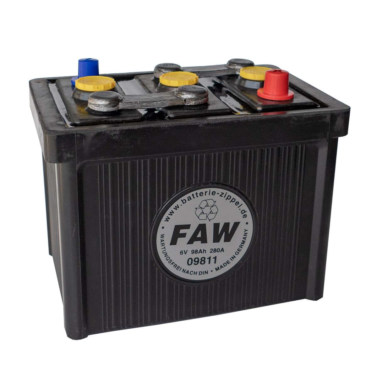 Faw Oldtimerbatterie 09811 6v 98ah Batterie Zippel De