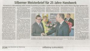 Artikel der Märkischen Oderzeitung