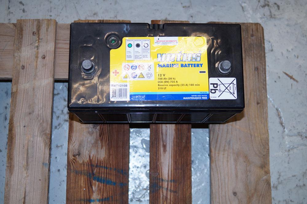 Vetus Marine Batterie Ansicht von oben