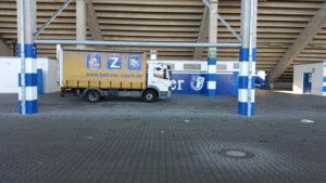 Batterieentsorgung MDCC Arena Magdeburg vor ORT