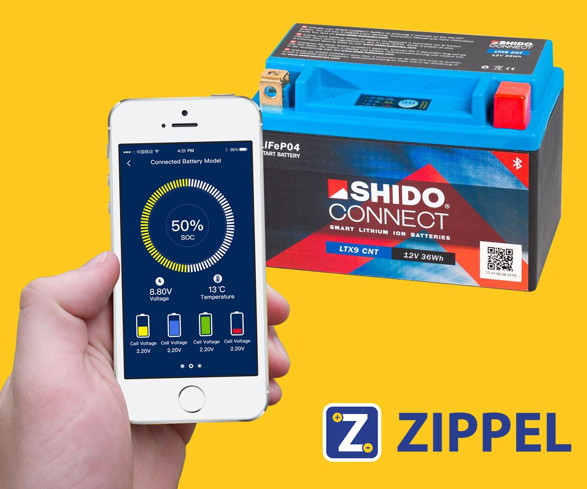 shido app smarte batterie motorrad
